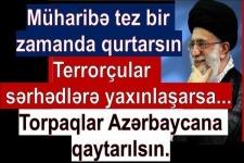 İmam Xamenei Qarabağ müharibəsindən danışdı. İşğalçı Ermənistan torpaqları qaytarsın. Terrorçular...