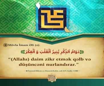 Allahı zikr etmək
